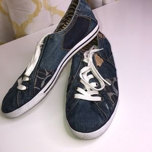 COACH Tonie Denim Sneakers Size 8.5 M